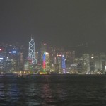 Skyline of HK Island after the Symphon of Lights.