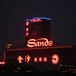 The Sands casino taken from the ferry terminal.