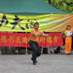 ...doing Kung Fu and Tai chi demonstrations.