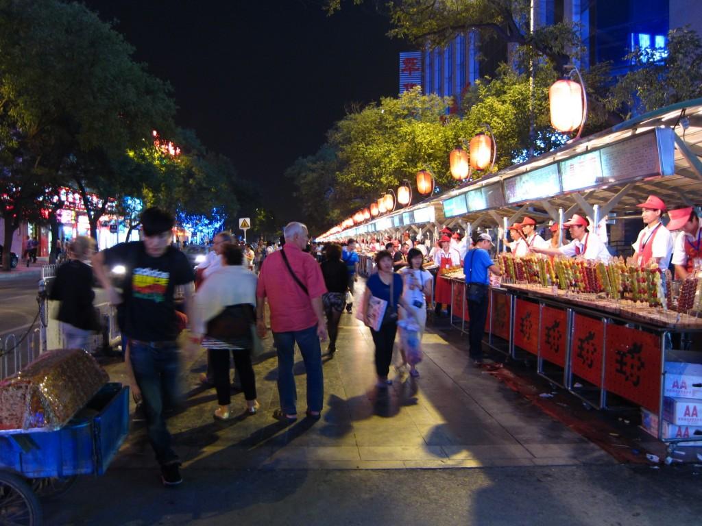 At the Donghuamen Night Market. Food, food, food...