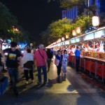 At the Donghuamen Night Market. Food, food, food...