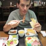 Breakfast. Weird American-Japanese crossover. [2010/09/17 - Osaka/Daiyoshi]