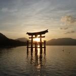 Torii sunset picture. [2010/09/21 - Miyajima]