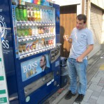 Another BOSS vending machine and me & yet another interesting drink. [2010/09/22 - Kyoto]
